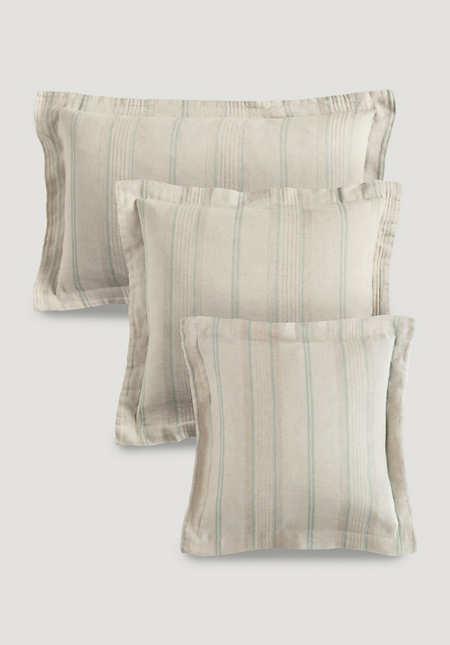 Kissenbezug Limoges aus Bio-Leinen mit Bio-Baumwolle
