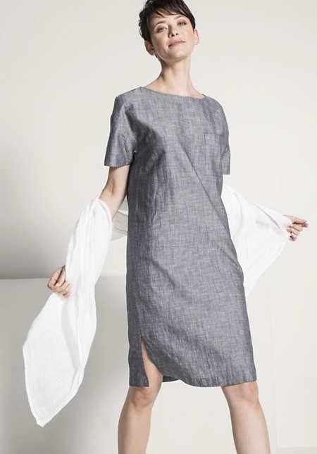 Kleid aus Bio-Baumwolle mit Leinen