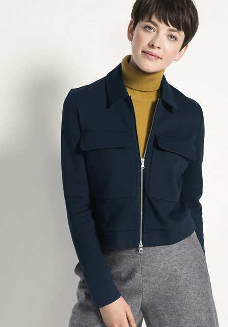 Kurz-Jacke aus Bio-Baumwolle
