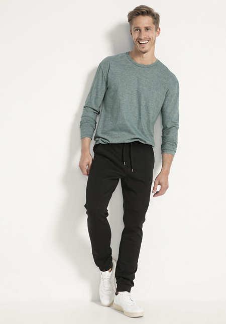 Langarm-Shirt aus Bio-Baumwolle mit Hanf und Yak