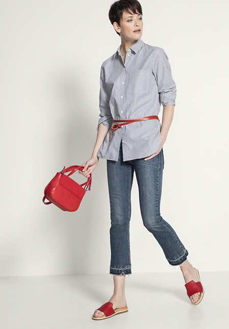 Lange Bluse aus reiner Bio-Baumwolle