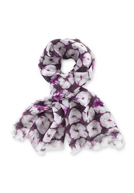 Leinen-Schal im Batiklook