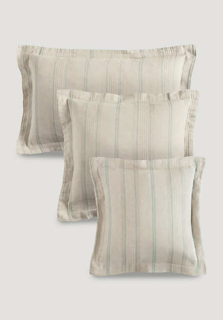 Limoges cushion cover made of organic linen with organic cotton