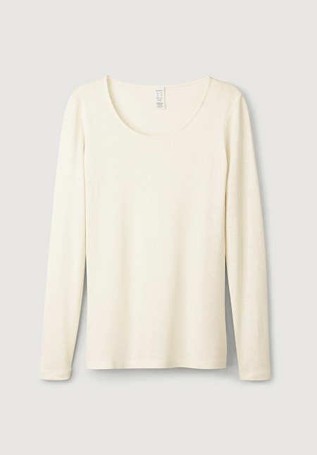 Long-sleeved shirt made of pure organic silk