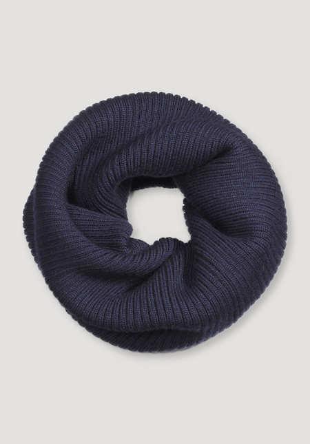 Loopschal aus reiner Merinowolle