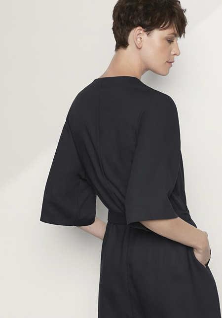 Mantel aus Modal mit Schurwolle