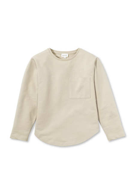 Organic cotton sweatshirt with kapok