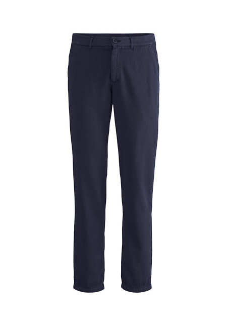 Organic cotton trousers with linen