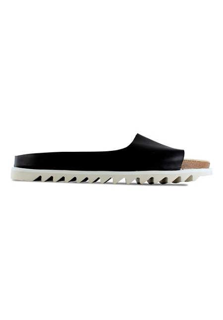 Palm Sandal / Black Leather