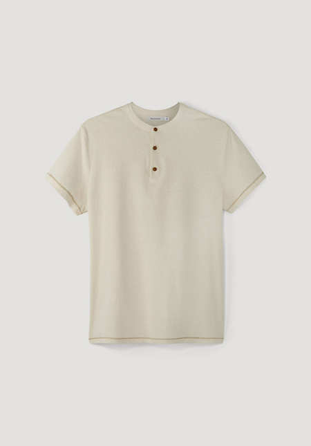 Polo with stand-up collar, bed recycling made of pure organic cotton
