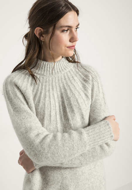 Pullover aus Alpaka mit Baumwolle