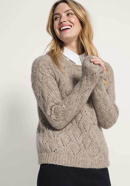 Pullover aus Alpaka mit Schurwolle und Baumwolle