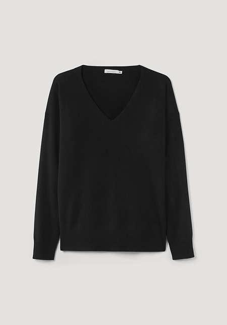 Pullover aus Bio-Schurwolle mit Kaschmir