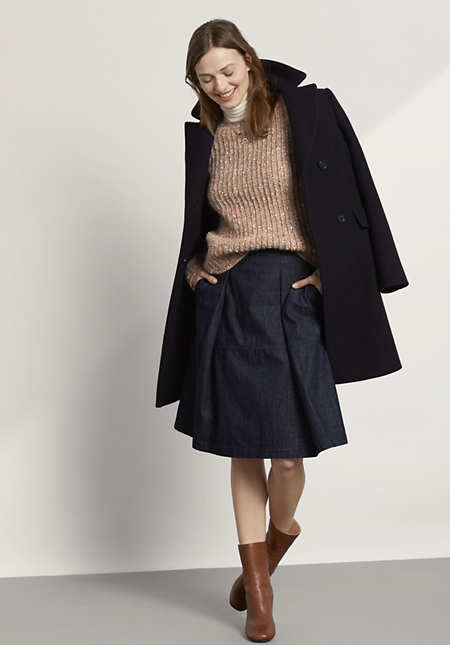 Pullover aus Schurwolle mit Alpaka und Seide