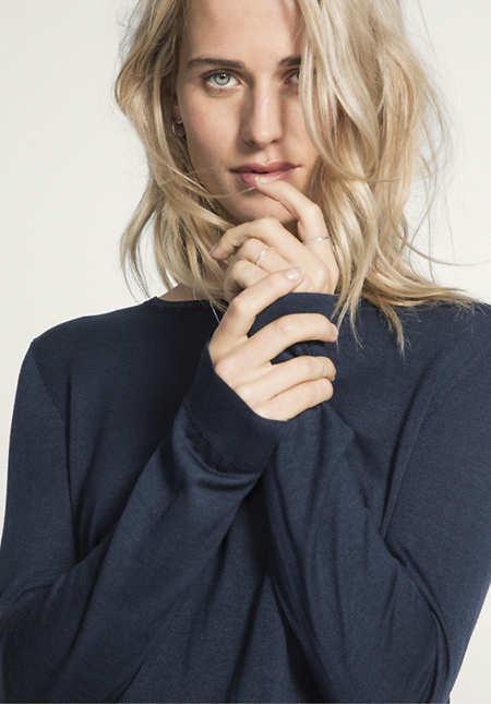 Pullover aus reiner Bio-Seide