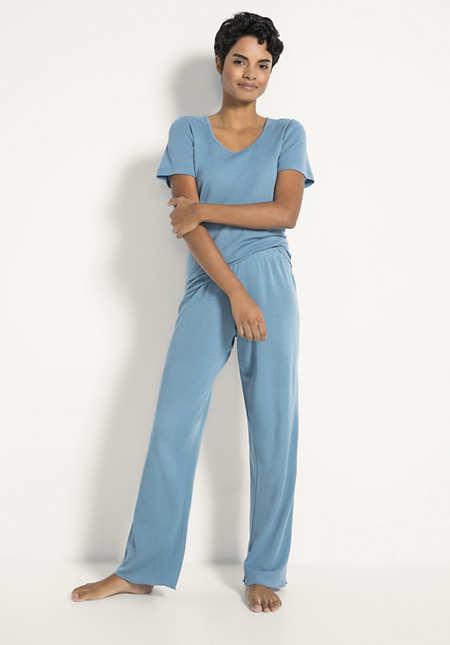 Pyjama-Hose PureWOMAN aus Bio-Merinowolle und Seide