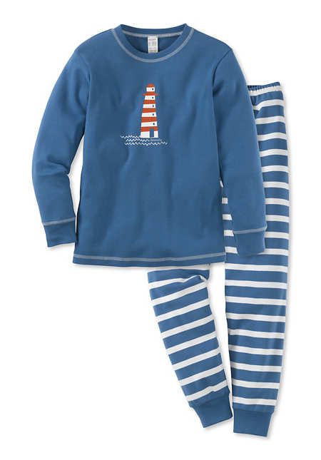 Pyjama Lang aus reiner Bio-Baumwolle