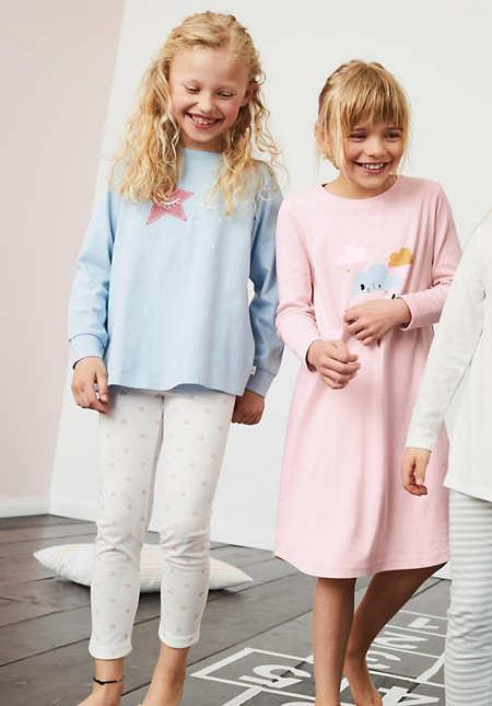 Pyjama Mädchen aus reiner Bio-Baumwolle