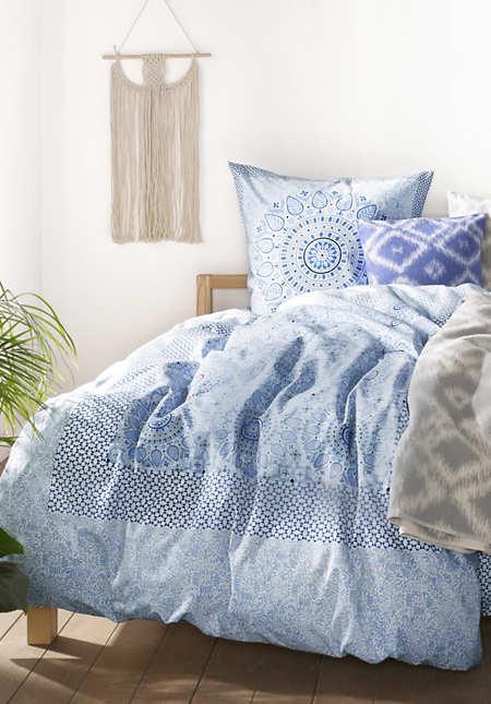 Renforcé-Bettwäsche Marrakesch aus reiner Bio-Baumwolle