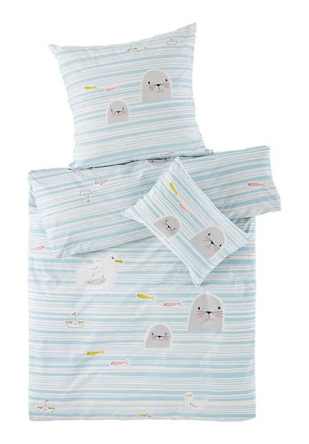 Renforcé Wende-Bettwäsche aus reiner Bio-Baumwolle