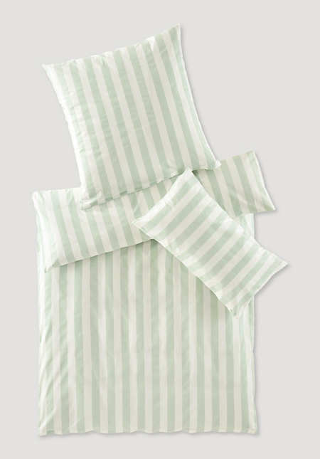Renforcé bed linen Cannes in a set made from pure organic cotton