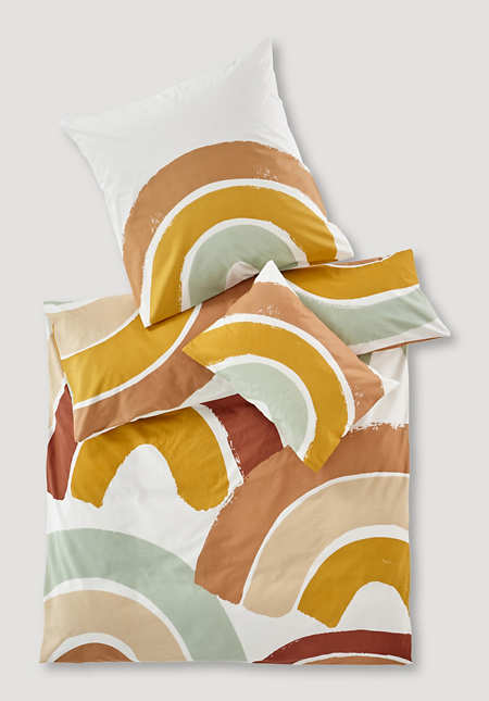 Renforcé rainbow bed linen made from pure organic cotton