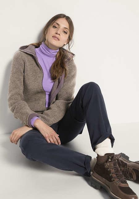 Rhön-Strickjacke aus Schurwolle mit Bio-Baumwolle