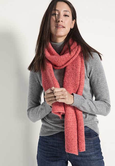 Schal aus Schurwolle mit Alpaka und Bio-Baumwolle