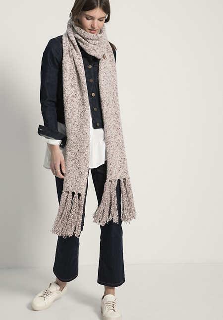 Schal aus Schurwolle mit Bio-Baumwolle