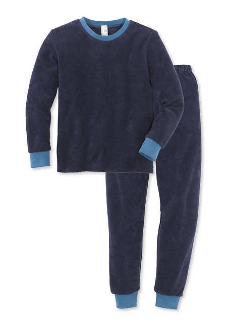 Schlafanzug Frottee Jungen aus reiner Bio-Baumwolle