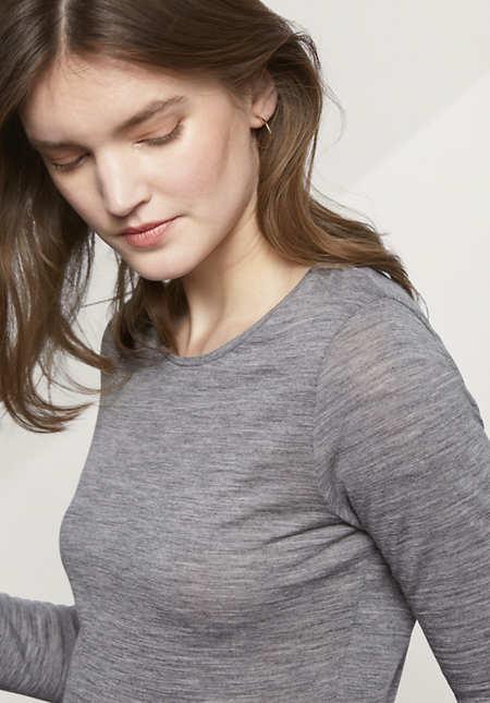 Shirt aus reiner Schurwolle