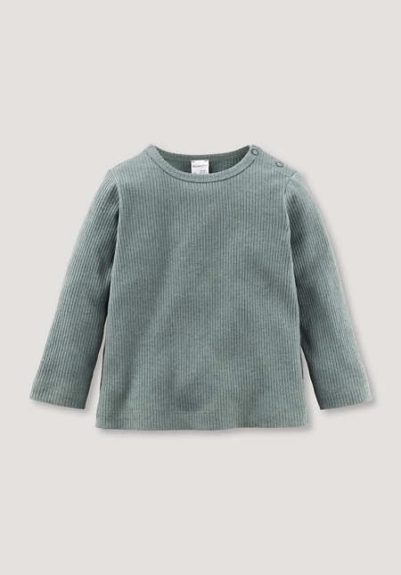 Shirt made of organic cotton with virgin wool