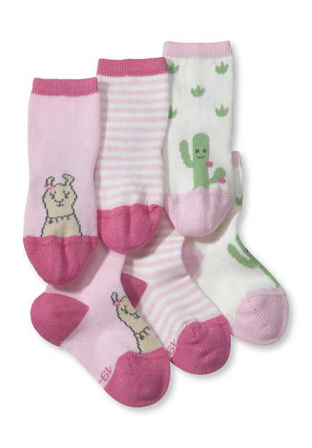 Socke im 3er-Pack aus Bio-Baumwolle