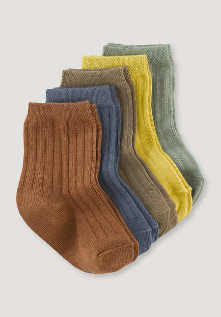 Socks in a pack of 5 made of organic cotton