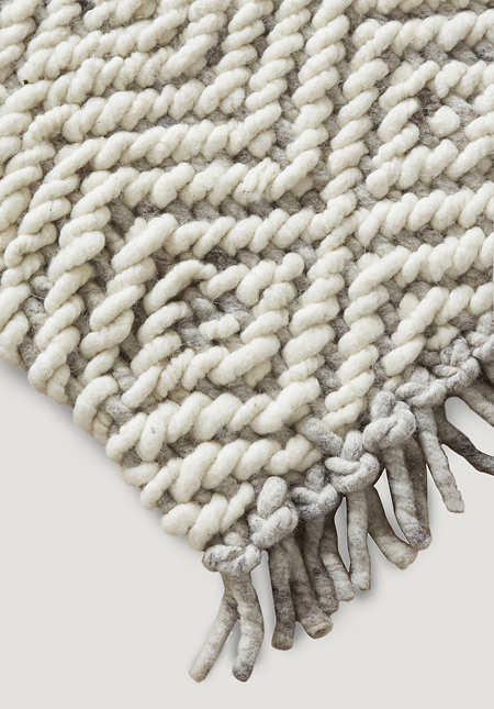 Strukturteppich Deichschaf aus reiner Schurwolle