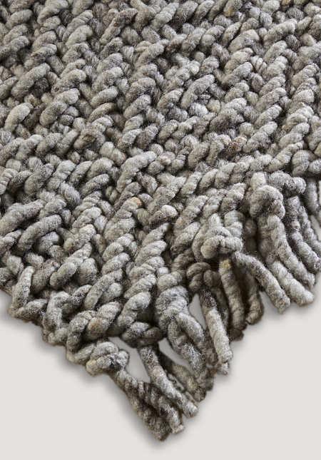 Strukturteppich aus reiner Schurwolle