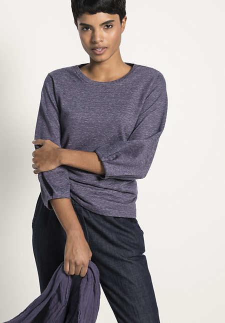 Sweatshirt aus Leinen mit Baumwolle