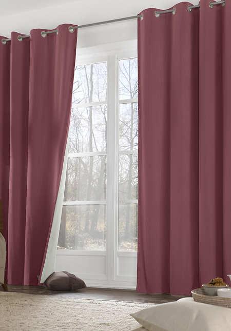 """Thermo-Vorhang """"Neveres"""" mit Ösen aus reiner Bio-Baumwolle"""