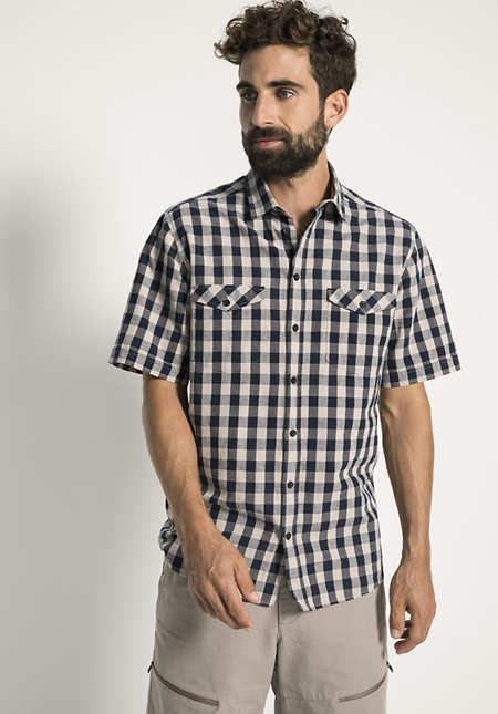Trekking-Hemd Comfort Fit aus Bio-Baumwolle und Leinen
