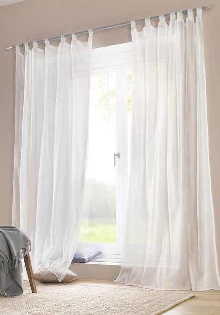 """Vorhang """"Marc"""" mit Schlaufen aus reiner Bio-Baumwolle"""