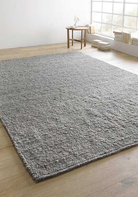 Web-Teppich Heidschnucke aus reiner Schurwolle
