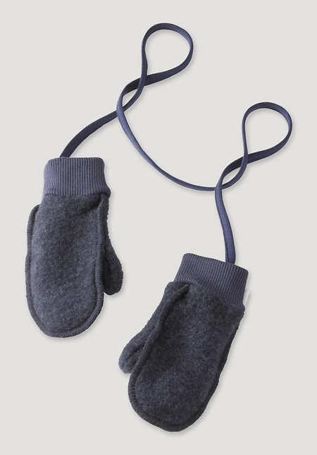 Wollfleece Fäustlinge aus reiner Schurwolle