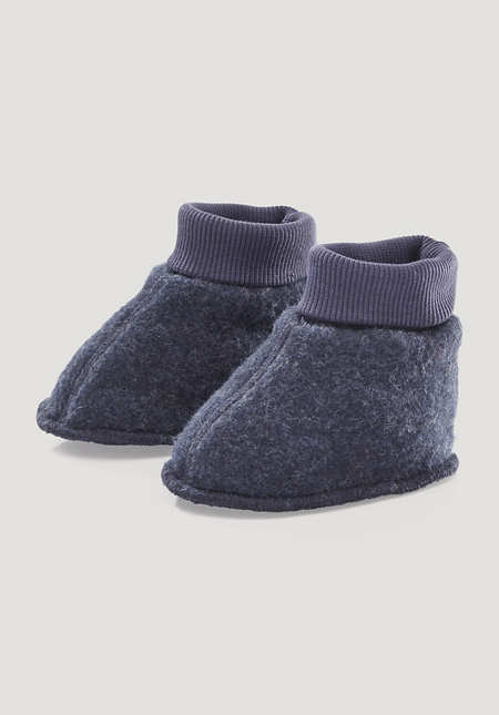 Wollfleece Schuhe aus reiner Bio-Merinowolle