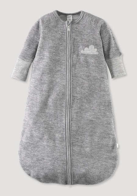 Wollfrottee Schlafsack aus reiner Bio-Merinowolle