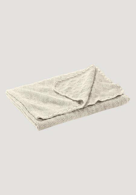 Wool blanket made from pure organic merino wool
