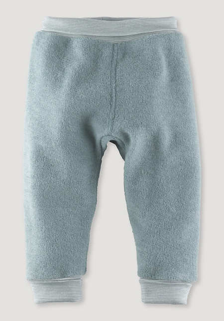 Wool terry trousers made from pure organic merino wool